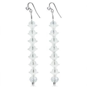 Clear Elegant Crystal Long Earrings
