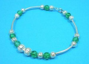 Fashion-Jewellery-Glass-Filigree-Beaded-Bracelet-Bangle-150522288772