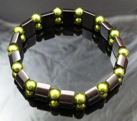 Hematite-Gem-Acrylic-Beaded-Stretch-Bracelet-Bangle-NEW-400068390018