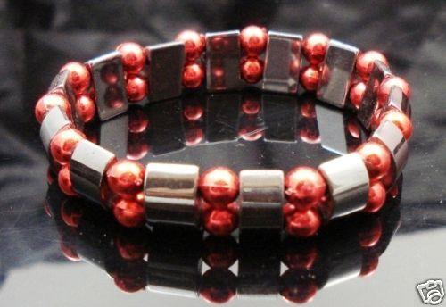 Hematite-Gem-Acrylic-Beaded-Stretch-Bracelet-Bangle-NEW-400068390090