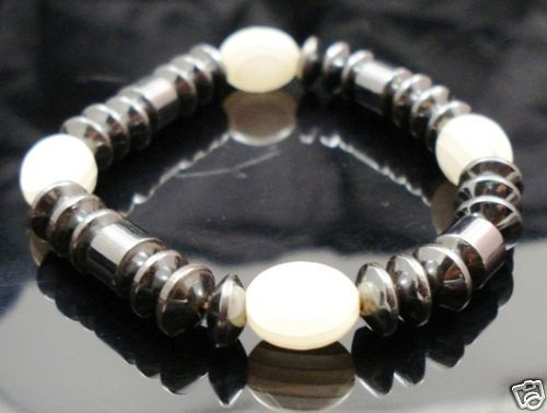 Hematite-Gem-Glass-Beaded-Stretch-Bracelet-Bangle-NEW-400068389962