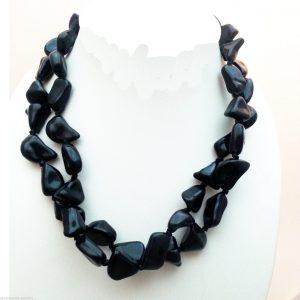 Jewellery-Resin-Extra-Long-48-Black-Necklace-Large-Bracelet-Anklet-Ribbon-New-161363922965-2