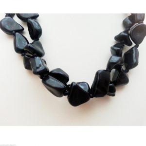 Jewellery-Resin-Extra-Long-48-Black-Necklace-Large-Bracelet-Anklet-Ribbon-New-161363922965-4