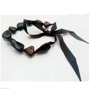 Jewellery-Resin-Extra-Long-48-Black-Necklace-Large-Bracelet-Anklet-Ribbon-New-161363922965-5