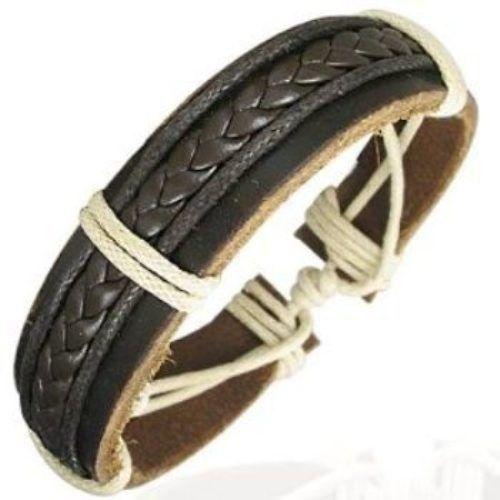Leather-Cord-Mens-Womens-Handmade-Bracelet-Brown-NEW-400131158004