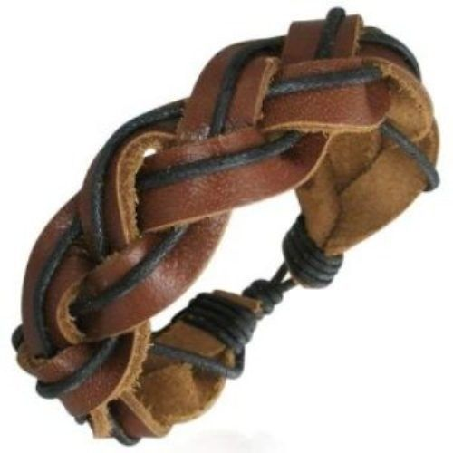 Leather-Mens-Womens-Handmade-Bracelet-Bangle-NEW-400078734054