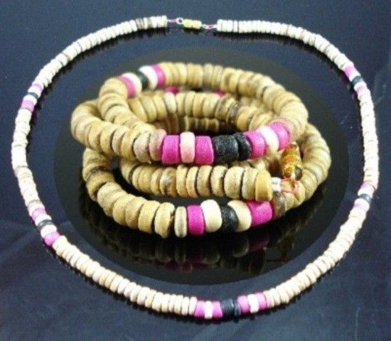 NEW-MENS-WOMENS-BEADED-WOOD-COCO-SURF-WOODEN-NECKLACE-310109733933
