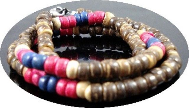 NEW-MENS-WOMENS-BEADED-WOOD-COCO-SURF-WOODEN-NECKLACE-310110545538-2