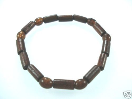 NEW-WOMENS-BEADED-WOOD-COCO-SURF-WOODEN-BRACELET-BANGLE-150397301993
