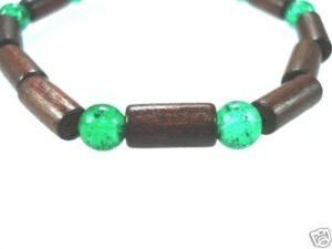 NEW-WOMENS-BEADED-WOOD-COCO-SURF-WOODEN-BRACELET-BANGLE-400091506716