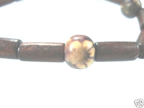 NEW-WOMENS-BEADED-WOOD-COCO-SURF-WOODEN-BRACELET-BANGLE-400091506762