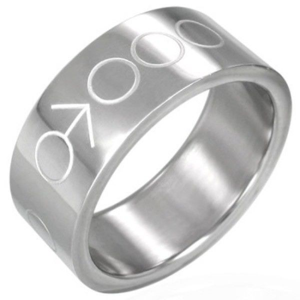 Stainless-Steel-MALE-SYMBOL-UNISEX-Mens-or-Womens-SIZE-Ring-NEW-400482763935