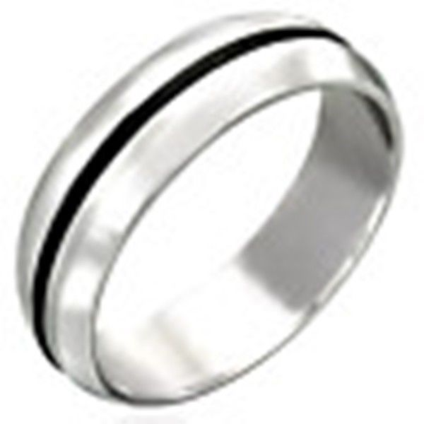 Stainless-Steel-RUBBER-RING-UNISEX-Mens-or-Womens-SIZE-Ring-NEW-400482758679