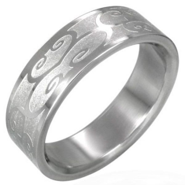 Stainless-Steel-SWIRLS-CURLS-Unisex-Womens-or-Mens-SIZE-NEW-and-Cheap-400482778224