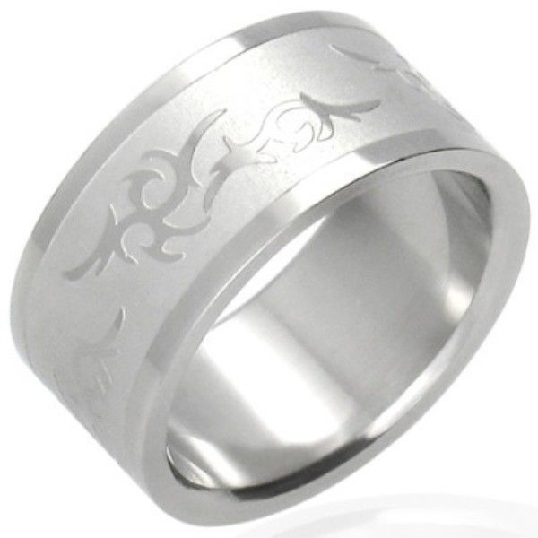 Stainless-Steel-TRIBAL-UNISEX-Ring-BAND-NEW-400482362600