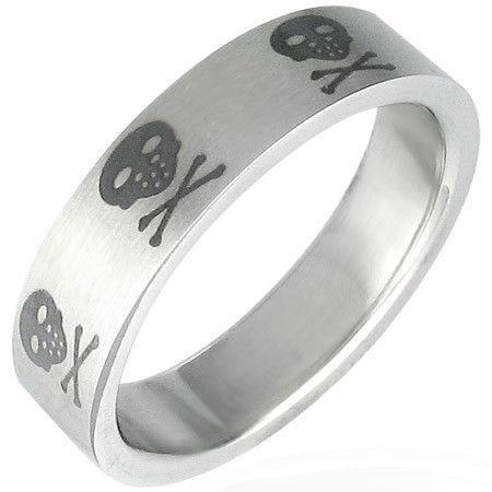 Stainless-Steel-Tattoo-SKULL-Design-Unisex-8-P-Ring-NEW-400067299502