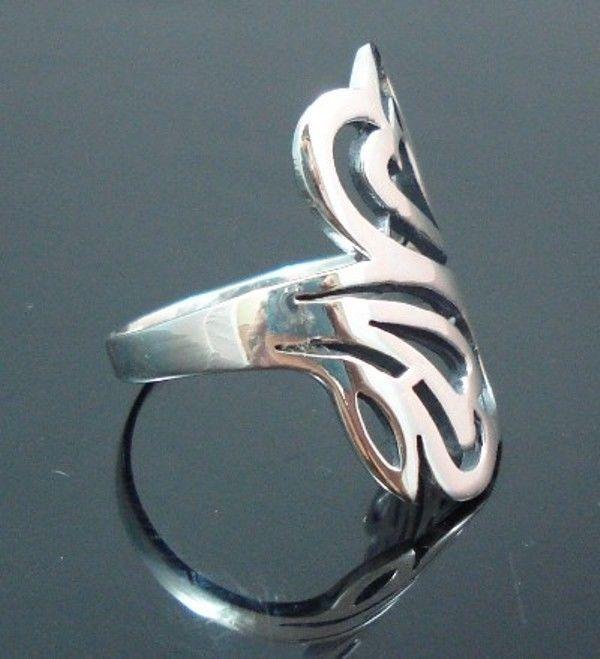 Sterling-Silver-925-Size-6-L-12-Boho-Swirl-HEART-Ring-400053508103-2