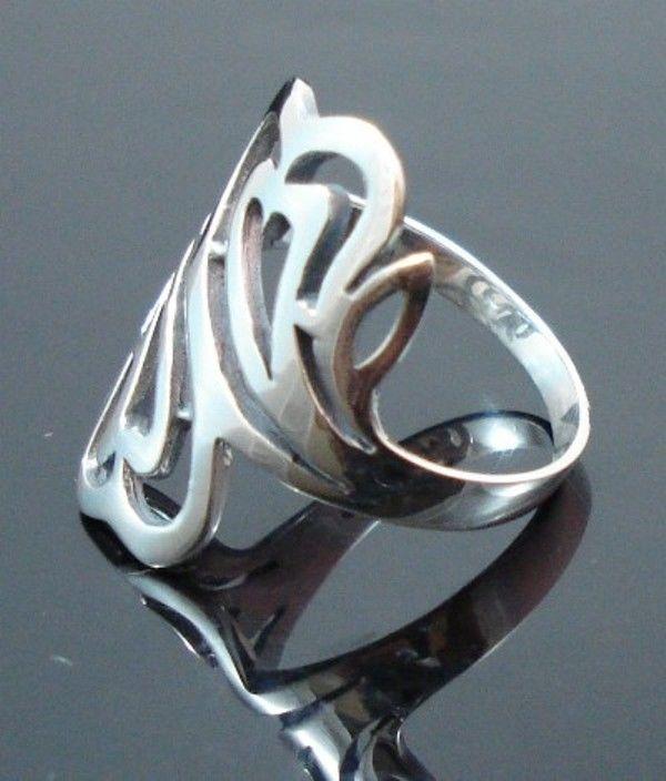 Sterling-Silver-925-Size-6-L-12-Boho-Swirl-HEART-Ring-400053508103-3