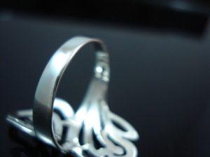 Sterling-Silver-925-Size-6-L-12-Boho-Swirl-HEART-Ring-400053508103-5